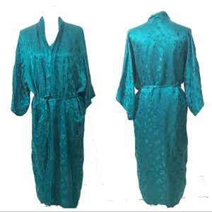 Vintage 100% Silk Chinese Bath Robe Dressing Gown